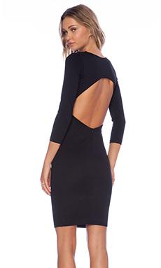 Myne Chance Long Sleeve Dress in Black