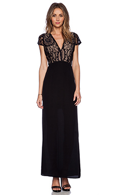 Myne Cleo Gown in Black Lace