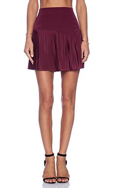 Myne Grayson Mini Skirt in Burgundy