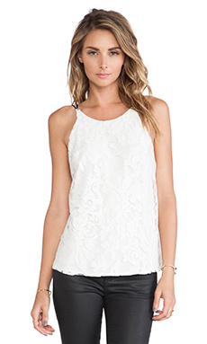 Myne Naomi Tank in White Lace