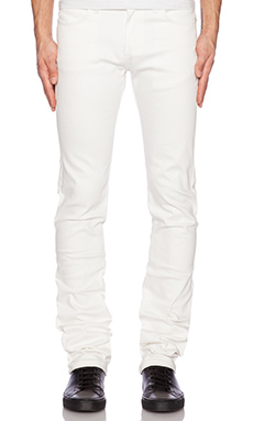 Naked & Famous Denim Skinny Guy Ivory Power Stretch 12oz in White