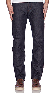 Naked & Famous Denim Weird Guy Unsanforized Natural Indigo Selvedge 13oz in True Indigo