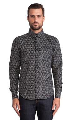 Naked & Famous Denim Kimono Geometric Regular Shirt in Indigo