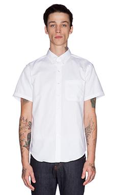 Naked & Famous Denim Slim Shirt SS Oxford in White