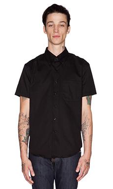 Naked & Famous Denim Slim Shirt SS Oxford in Black
