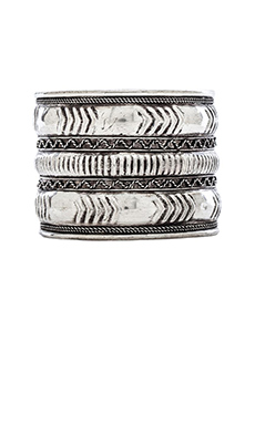 Natalie B Jewelry Navajo Cuff in Silver