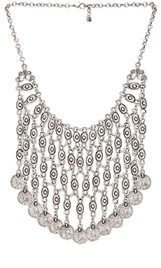 Natalie B Jewelry Azra Necklace in Zinc