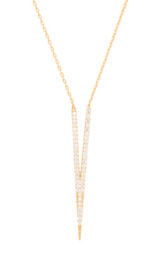 Natalie B Jewelry Take The Plunge I Necklace in Gold