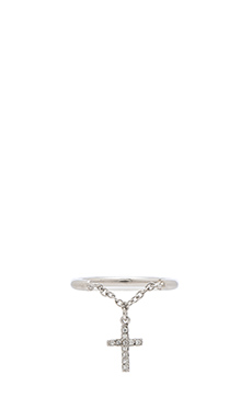 Natalie B Jewelry Divine Dangle Ring in Silver