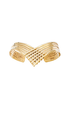 Natalie B Jewelry Lightning Huggy Bracelet in Gold