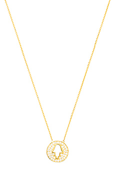 Natalie B Jewelry Hamsa Charm Necklace in Gold