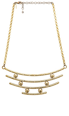 Natalie B Jewelry Raise The Bar Necklace in Brass