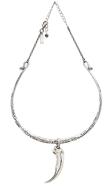 Natalie B Jewelry Talon Collar Necklace in Silver