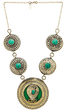 Natalie B Jewelry Esmeralda Necklace in Malachite