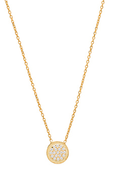Natalie B Ottoman Small Disc Necklace in Gold
