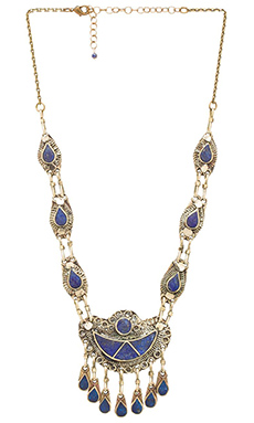 Natalie B Jewelry 7 Seas Necklace in Lapis