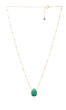 Natalie B Stone Drops Necklace in Turquoise