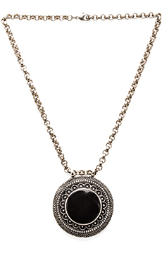 Natalie B Jewelry All Eyes on Me Necklace in Silver