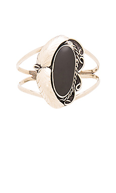 Natalie B Jewelry Two Raven Cuff in Onyx