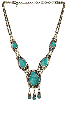 Natalie B Jewelry All Choked Up Necklace in Pacific Green