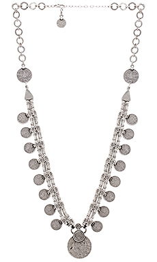 Natalie B Jewelry Kings Coin Necklace in Silver