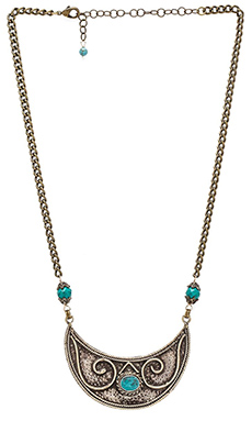 Natalie B Jewelry De Leon Necklace in Brass