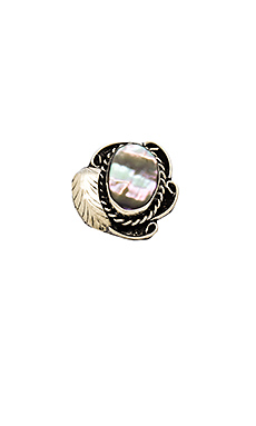Natalie B Jewelry Two Raven Ring in Abalone