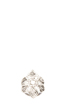 Natalie B Jewelry Pasha Star Ring in Silver