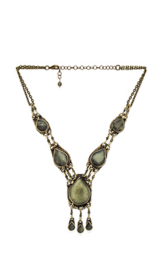 Natalie B Jewelry All Choked Up Necklace in Moss