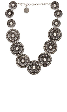 Natalie B Jewelry Warrior Shield Necklace in Silver