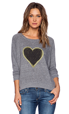 Nation LTD Heart Sweatshirt in Grey