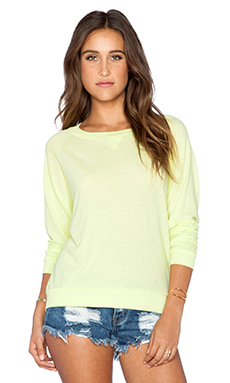 Nation LTD Raglan Sweatshirt in Sunny Lime