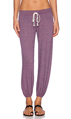 Nation LTD Medora Capri Sweats in Heather Pink Topaz