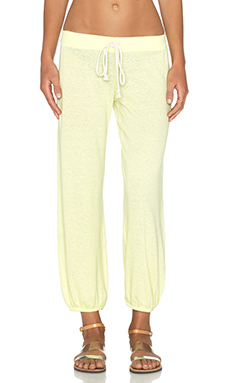 Nation LTD Medora Capri Sweatpant in Sunny Lime