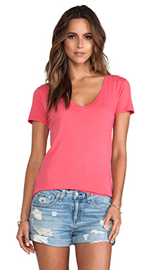 Nation LTD Classic V-Neck Tee in Watermelon