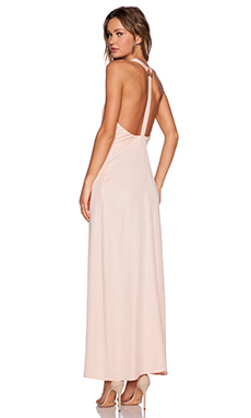NBD Skyfall Maxi Dress in Light Peach