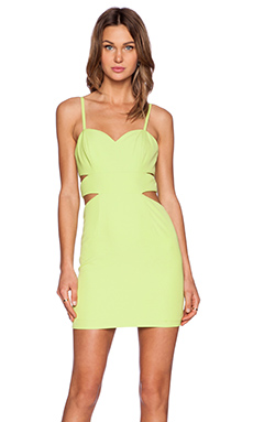 NBD x Naven Twins Last Dance Dress in Chartreuse