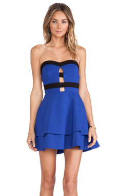 NBD Can't Wait Fit & Flare Dress in Cobalt