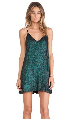 NBD Champagne Babydoll Dress in Emerald