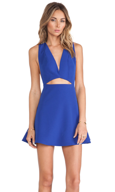 NBD Martini Fit & Flare Dress in Cobalt
