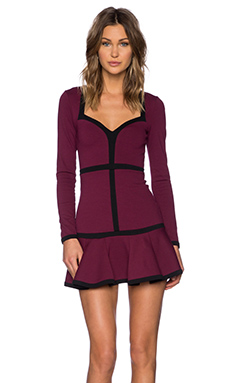 NBD Love Bound Dress in Black & Oxblood