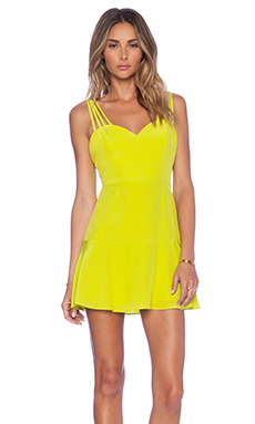 NBD Luminous Fit & Flare Dress in Chartruesse