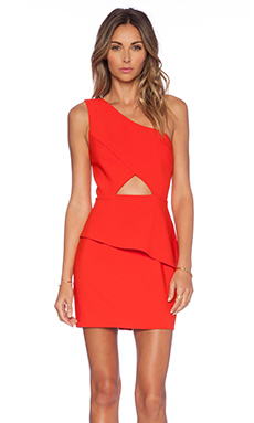 NBD x Naven Think About It Dress in Poppy Red