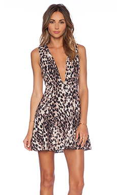 NBD x Naven Twins See No Evil Dress in Leopard