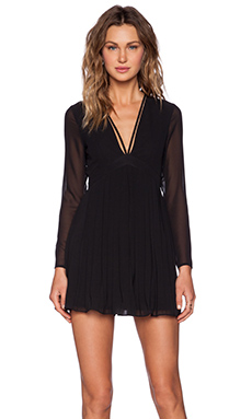 NBD Pretty Pleats Dress in Black