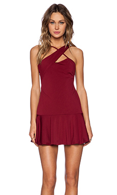 NBD Double Take Dress in Oxblood