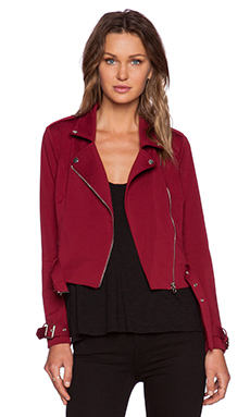 NBD Perfect Match Moto Jacket in Oxblood
