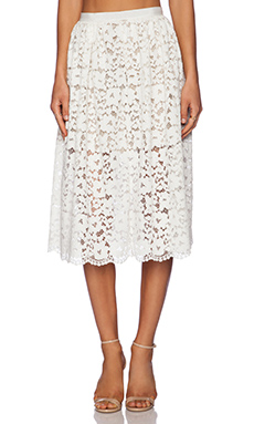 NBD On My Mind Skirt in Ivory