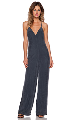 NBD Over It Jumpsuit in Charcoal