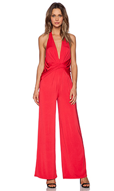 NBD x Naven Twins Found Love Jumpsuit in Red